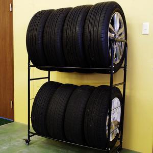 タイヤラック タイヤスタンド タイヤ収納ラック 専用カバー付き 8本収納|azzurri