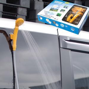 ポータブルシャワー セット DC12V対応 シガーソケット 電動 アウトドア 洗車 防災 簡易 キャンプ 用品 (送料無料)|azzurri
