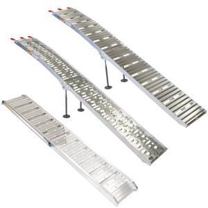 アルミ ラダーレール スロープ スタンド有/無 (Aタイプ/Bタイプ/Cタイプ) バイクスロープ 6061-T6アルミ (送料無料)|azzurri