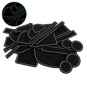 セレナC25 ドア ポケット マット/シート 滑り止め (新型ラバーマット) 夜光色 22P 車種専用設計|azzurri
