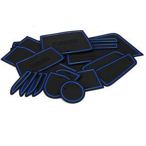 CAST(キャスト)LA250S/LA260S ドア ポケット マット/シート 滑り止め (新型ラバーマット) ブルー 17P 車種専用設計 azzurri