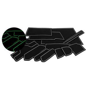 ウェイク LA700S/710Sドア ポケット マット/シート 滑り止め (新型ラバーマット) 夜光色  15P 車種専用設計|azzurri
