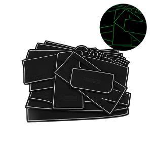 セレナC26 ドア ポケット マット/シート 滑り止め (新型ラバーマット) 夜光色 26P 車種専用設計|azzurri
