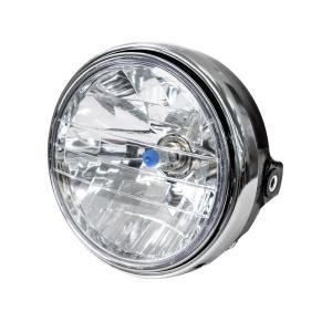 バイク CB系 マルチリフレクターヘッドライト ユニット ブラック 180Φ 汎用 H4ハロゲンバルブ付|azzurri