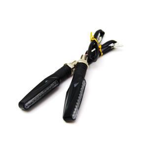 バイク用 LED エアロ ウィンカー ユーロタイプ ブラック 汎用/2個|azzurri