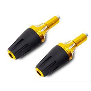マフラー エンジンガード スライダー プロテクター ゴールド バイク/汎用|azzurri