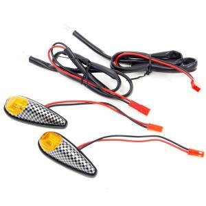 エアロ LEDウインカー貼り付けタイプ 汎用品 カウル貼付型 2個 バイク/汎用|azzurri