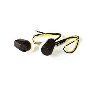 バイク 汎用 LED ウインカー ヤマハ用 埋め込み スモーク 12発LED|azzurri