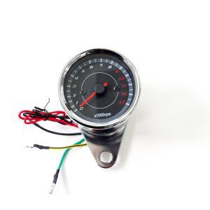 バイク用 LEDタコメーター 電気式/汎用 オートバイ メーター 13000回転 12V|azzurri