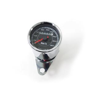 バイク用 LED ミニ スピードメーター オートバイ メーター 180km 12V|azzurri