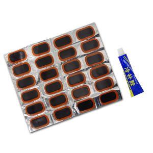 バイク チューブレスタイヤ 修理パッチ 30mm×50mm 24枚 緊急/応急処置(ネコポス送料無料) azzurri