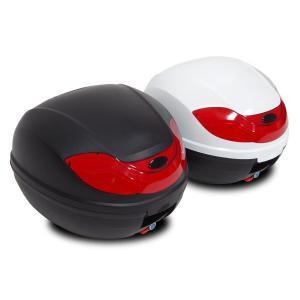バイク リアボックス (32L-Bタイプ) カギ&アタッチメント付き 2色 トップケース リアボックス/大容量|azzurri