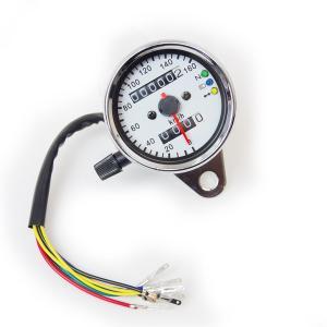 バイク用 スピードメーター 汎用 160km表示 インジケーター付き ニュートラル/ハイビーム/ウインカー|azzurri