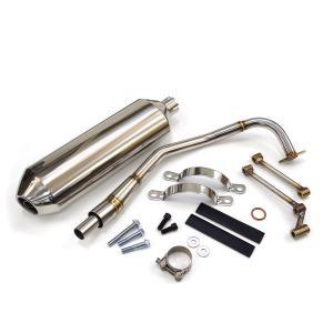 ホンダ PCX JF28 JF56 KF12 KF18 専用 コーンオーバルマフラー エキゾースト 社外品 ステンレス製|azzurri