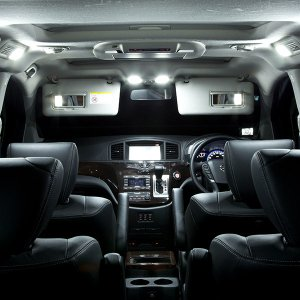 エクストレイル T31ルーフ付車 LEDルームランプ 8P 78発SMD 1055(送料無料)|azzurri