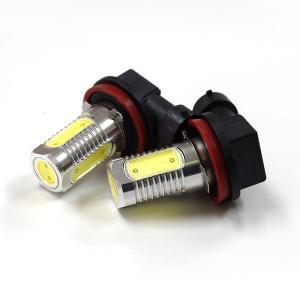 LED フォグランプ バルブ 6W/スクエアチップ/アルミヒートシンク SMD ホワイト 2本//レビュー投稿で送料無料|azzurri