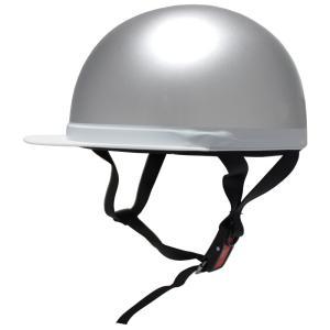 B&B SG安全規格品 白ツバ半キャップヘルメット シルバー BB300 ヘルメット 半ヘル バイク バイク用ヘルメット 半キャップ