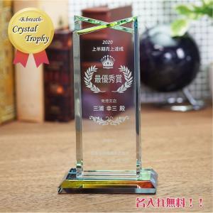 クリスタル トロフィー ツインタイプ ホールインワン 記念品 trophy ビブレス