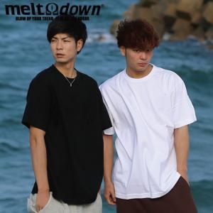 【アウトレット】MELTDOWN メルトダウン Tシャツ RIB NECK S/S TEE-ポケットなし(MD-STN01) ストリート系 B系 大きいサイズ|b-bros