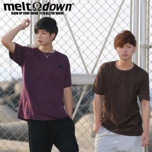 【アウトレット】MELTDOWN メルトダウン Tシャツ BINDER NECK S/S TEE-ポケットなし(MD-STN02) ストリート系 B系 大きいサイズ|b-bros