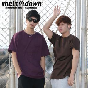 【アウトレット】MELTDOWN メルトダウン Tシャツ BINDER NECK S/S TEE-ポケット付き(MD-STP02) ストリート系 B系 大きいサイズ|b-bros