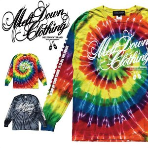 MELTDOWN(メルトダウン) 長袖Tシャツ SCRIPT TIE DYE L/S TEE(MD17FW-LS01) ストリート系 B系 大きいサイズ|b-bros