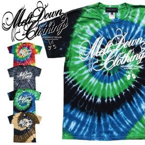 MELTDOWN(メルトダウン) Tシャツ SCRIPT TIE DYE S/S TEE(MD17FW-SS01) ストリート系 B系 大きいサイズ|b-bros