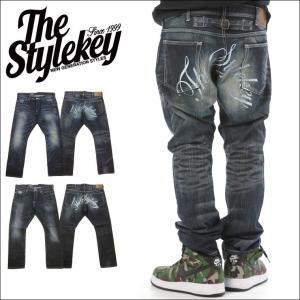 STYLEKEY スタイルキー 加工デニムパンツ CRAFT SLIM FIT DENIM PANTS(SK15FW-PT06) ストリート系 B系 大きいサイズ|b-bros
