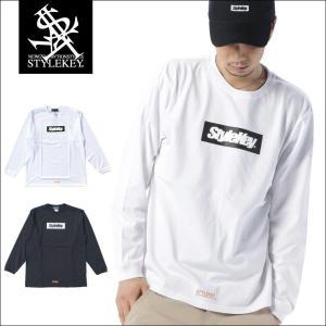 STYLEKEY(スタイルキー) 長袖Tシャツ BOX LOGO L/S TEE(SK17FW-LS03) ストリート系 B系 大きいサイズ|b-bros