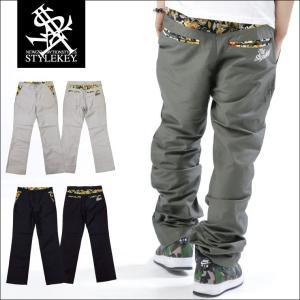 STYLEKEY スタイルキー ワークパンツ WATERCOLOR FLOWER WORK PANTS(SK16SU-PT01) ストリート系 B系 大きいサイズ|b-bros