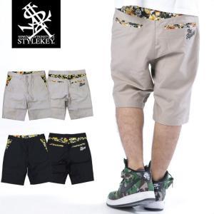 STYLEKEY スタイルキー ショートパンツ WATERCOLOR FLOWER SHORT PANTS(SK16SU-SPT01) ストリート系 B系 大きいサイズ|b-bros