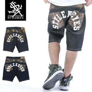 STYLEKEY スタイルキー ショートパンツ REAL TREE CAMO DENIM SHORT PANTS(SK16SU-SPT02) ストリート系 B系 大きいサイズ|b-bros