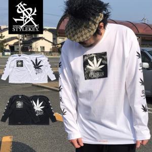 STYLEKEY(スタイルキー) 長袖Tシャツ ADDICT L/S TEE(SK17HO-LS03) ストリート系 B系 大きいサイズ|b-bros