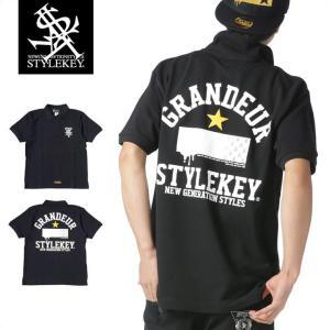 STYLEKEY スタイルキー ポロシャツ GRANDEUR 鹿の子 S/S POLO(SK17SP-PL01) ストリート系 B系 大きいサイズ|b-bros