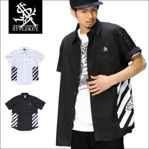STYLEKEY スタイルキー 半袖シャツ CONTAINER S/S SHIRT(SK17SU-BL01) ストリート系 B系 大きいサイズ|b-bros