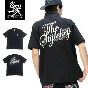 STYLEKEY スタイルキー ポロシャツ LETTER 鹿の子 S/S POLO(SK17SU-PL01) ストリート系 B系 大きいサイズ|b-bros