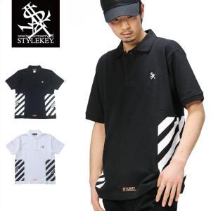 STYLEKEY スタイルキー ポロシャツ CONTAINER 鹿の子 S/S POLO(SK17SU-PL04) ストリート系 B系 大きいサイズ|b-bros
