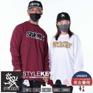 STYLEKEY(スタイルキー) 長袖Tシャツ SMART LOGO L/S TEE(SK18FW-LS02) ストリート系 B系 大きいサイズ|b-bros