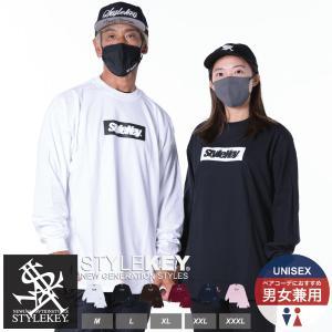 STYLEKEY(スタイルキー) 長袖Tシャツ BOX LOGO L/S TEE(SK18FW-LS03) ストリート系 B系 大きいサイズ|b-bros