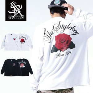 STYLEKEY(スタイルキー) 長袖Tシャツ BLOOMING L/S TEE(SK18FW-LS06) ストリート系 B系 大きいサイズ|b-bros