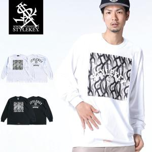 STYLEKEY(スタイルキー) 長袖Tシャツ DREAR CAMO L/S TEE(SK18FW-LS09) ストリート系 B系 大きいサイズ|b-bros