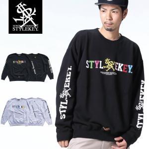 STYLEKEY(スタイルキー) トレーナー PALETTE CREW SWEAT(SK18FW-SWC02) ストリート系 B系 大きいサイズ|b-bros