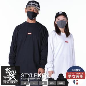 STYLEKEY(スタイルキー) 長袖Tシャツ SMART BOX L/S TEE(SK18HO-LS01) ストリート系 B系 大きいサイズ|b-bros