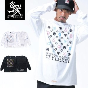 STYLEKEY(スタイルキー) 長袖Tシャツ IMAGINATION L/S TEE(SK18HO-LS05) ストリート系 B系 大きいサイズ|b-bros