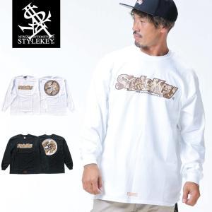 STYLEKEY(スタイルキー) 長袖Tシャツ ROOTS OF PEACE L/S TEE(SK18HO-LS06) ストリート系 B系 大きいサイズ|b-bros