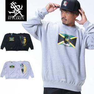 【SALE XXL・XXXLのみ】STYLEKEY(スタイルキー) トレー ナー REIGNING KING CREW SWEAT(SK18HO-SWC05) ストリート ジャマイカ レゲエ ライオン|b-bros