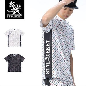 STYLEKEY(スタイルキー) 総柄Tシャツ MULTI MONO STRETCH S/S TEE(SK18SP-DSS01) ストリート系 B系 大きいサイズ|b-bros