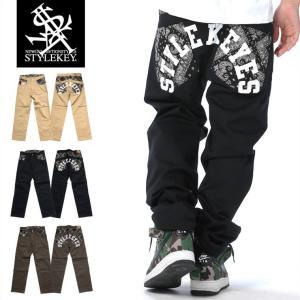 STYLEKEY スタイルキー チノパン PAISLEY TAPERED CHINO PANTS(SK18SP-PT02) ストリート系 B系 大きいサイズ|b-bros