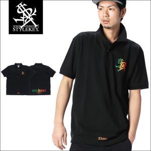 STYLEKEY スタイルキー ポロシャツ RASTA ROYAL 鹿の子 S/S POLO(SK18SU-PL01) ストリート系 B系 大きいサイズ|b-bros