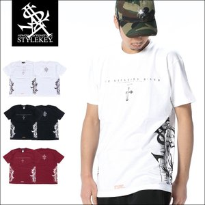 STYLEKEY スタイルキー Tシャツ BAPTISM S/S TEE(SK18SU-SS09) ストリート系 B系 大きいサイズ|b-bros